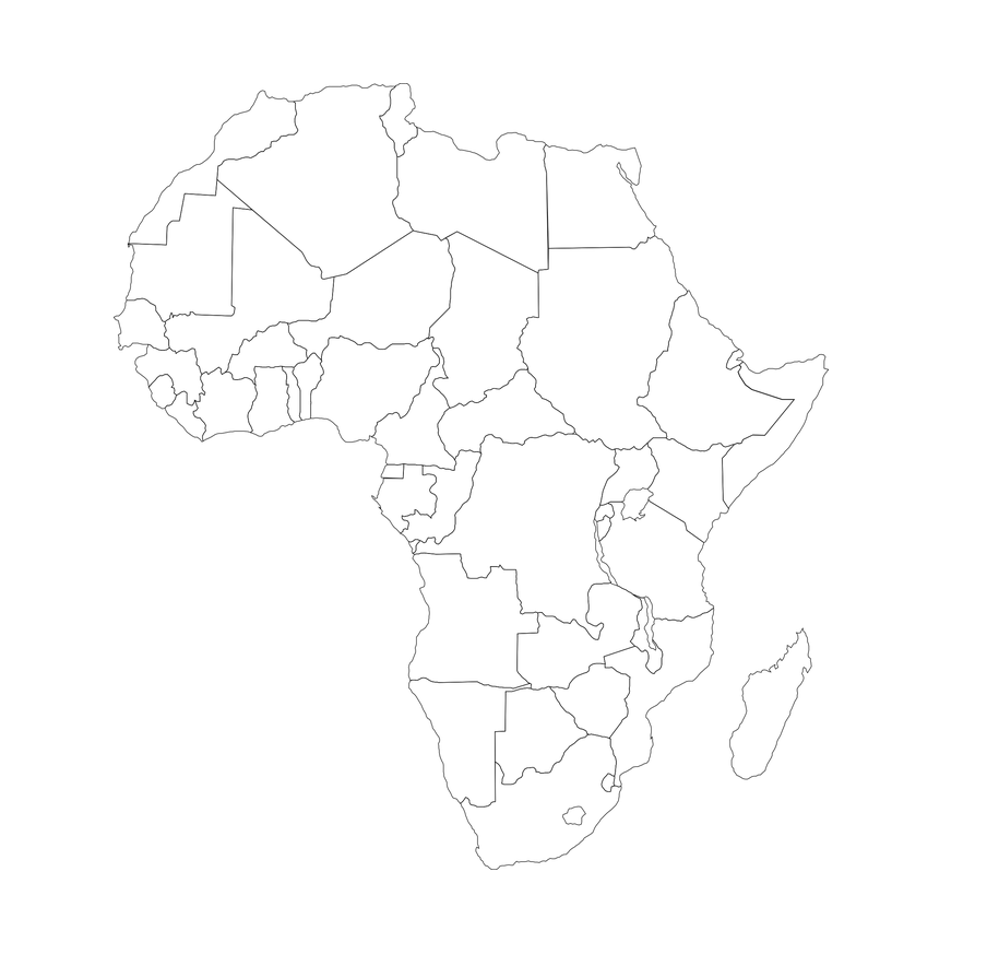mapa africa mudo