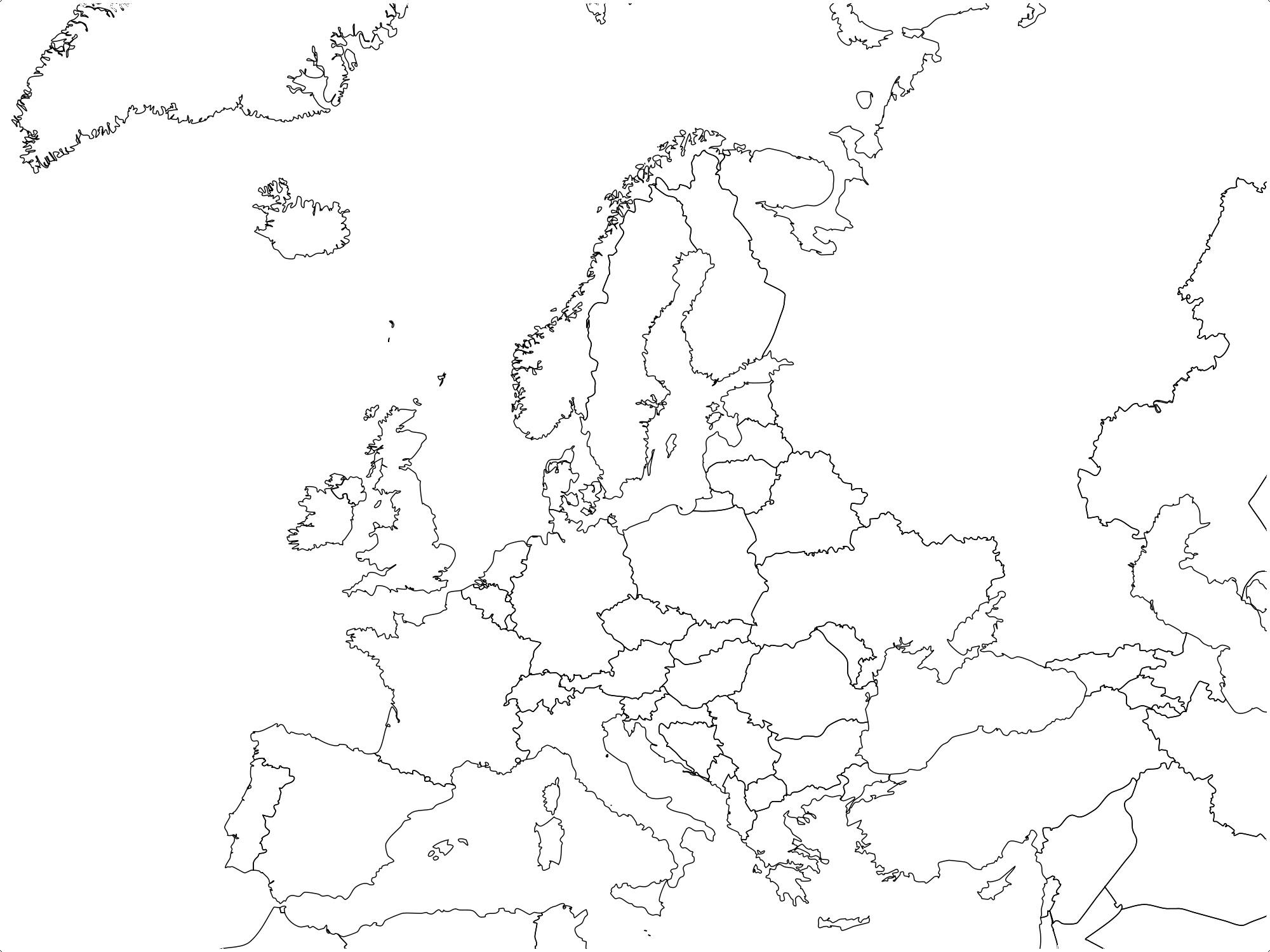 mapa europa mudo
