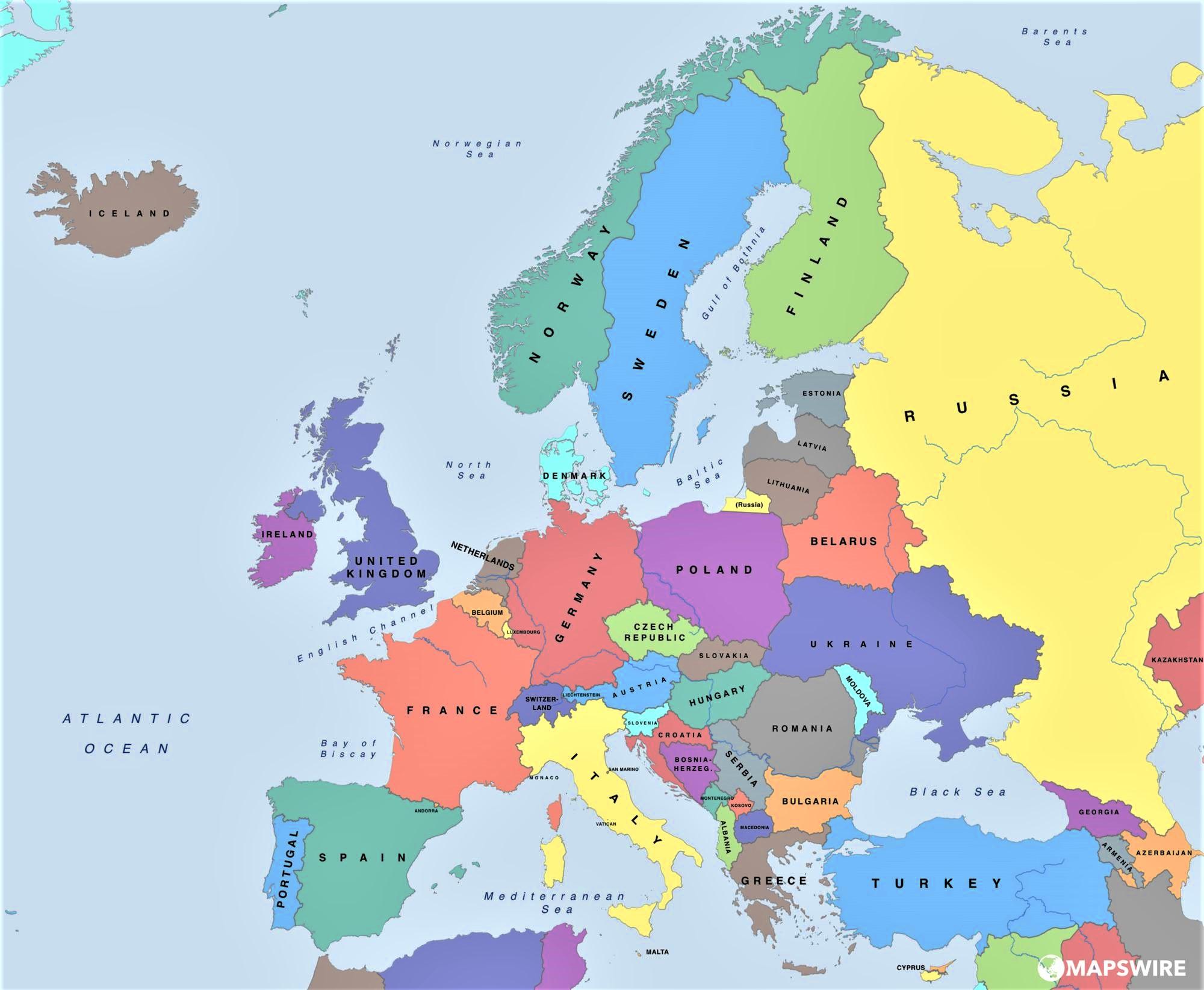mapa europa politico nombres