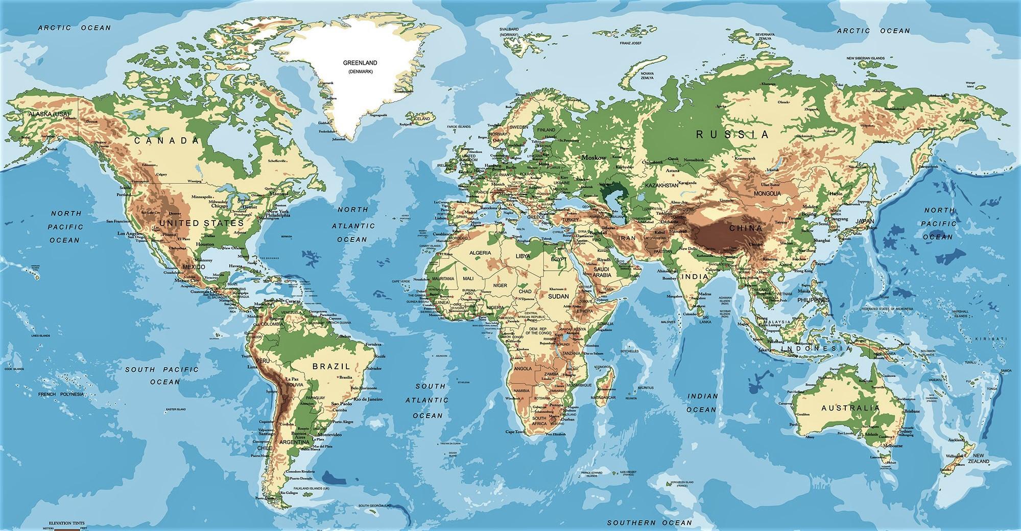 mapamundi fisico politico con nombres