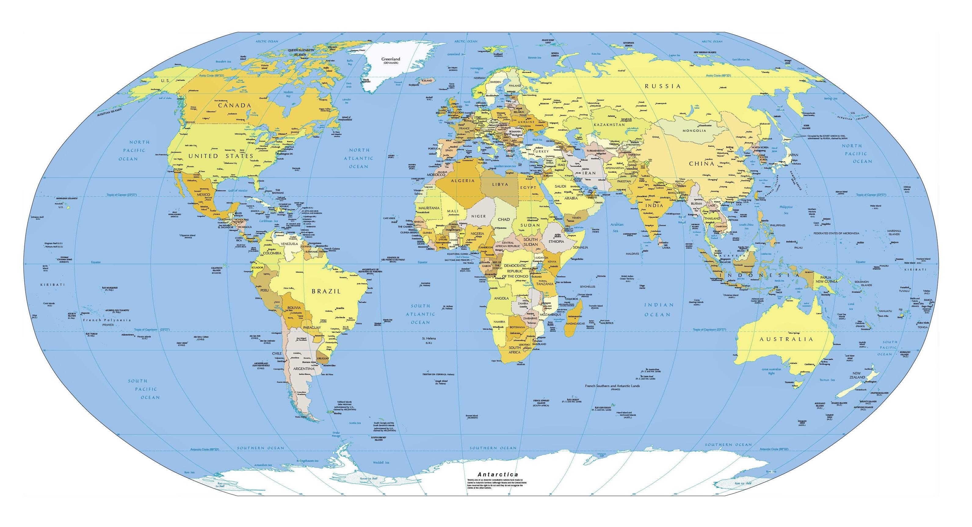 planisferio politico mapa mundo
