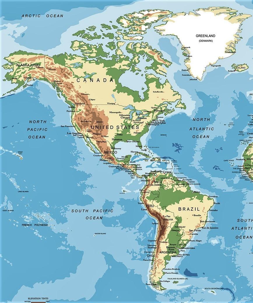 Mapa De America Politico Gran Tamano Buena Calidad 2020