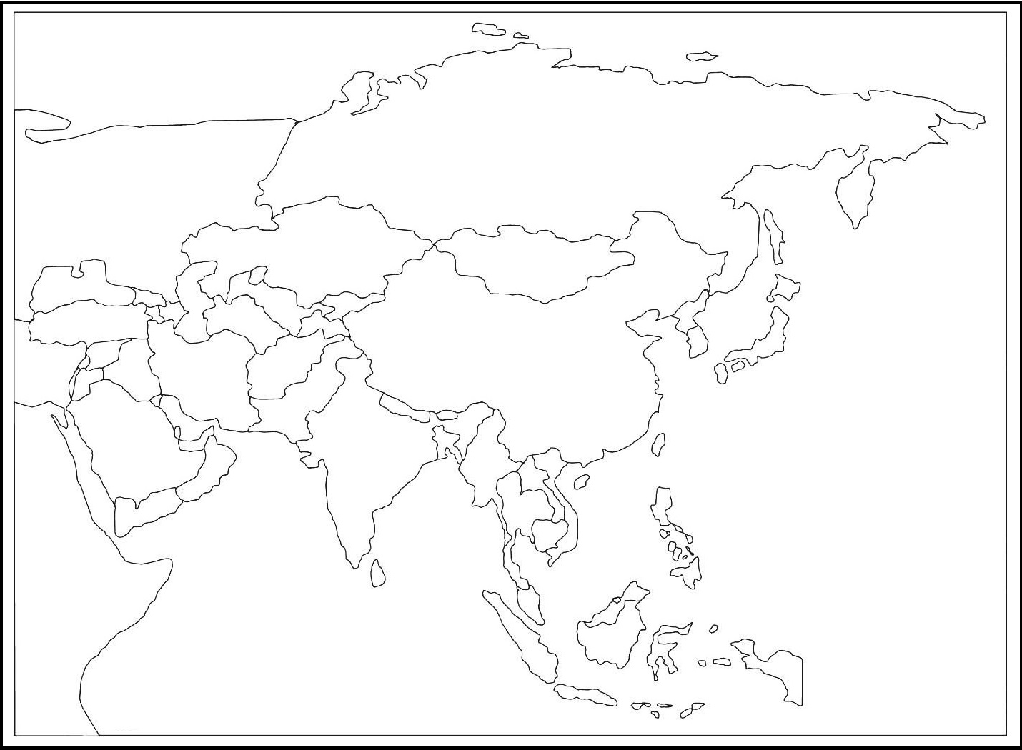 Mapa De Asia Mudo.Mapa De Asia Politico Mapa Continente Asiatico 2019